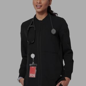 Figs black bellery scrub jacket